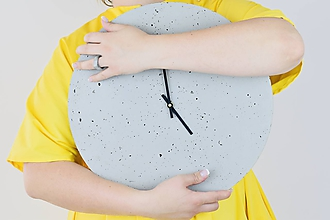 Hodiny - Betónové hodiny - PURE 40 verzia 5 - 11312783_