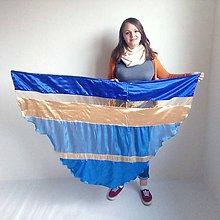 Nezaradené - Vlajka modro-zlatá oblúková - 11312858_