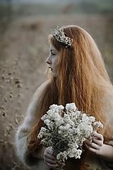 Ozdoby do vlasov - Čelenka Sneh - 11314275_