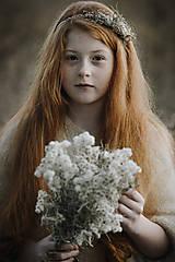Ozdoby do vlasov - Čelenka Sneh - 11314277_