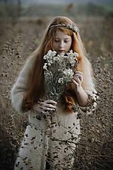 Ozdoby do vlasov - Čelenka Sneh - 11314290_