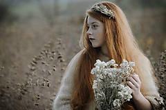 Ozdoby do vlasov - Čelenka Sneh - 11314291_