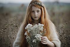 Ozdoby do vlasov - Čelenka Sneh - 11314294_
