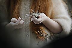 Ozdoby do vlasov - Čelenka Sneh - 11314309_