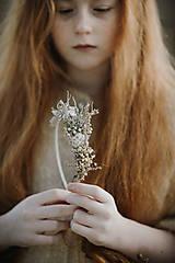 Ozdoby do vlasov - Čelenka Sneh - 11314323_