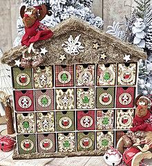 Dekorácie - Adventný kalendár sobík - 11312861_
