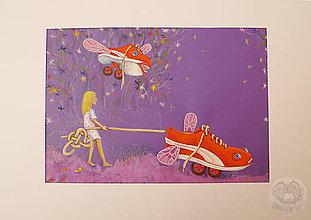 Obrazy - Prechádzka so červenými teniskami - 11315173_