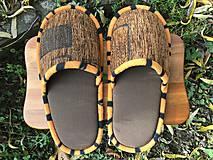 Obuv - Hnedé papuče s tigrím vzorom - 11310999_