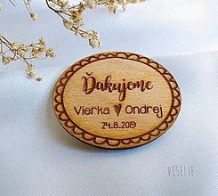 Darčeky pre svadobčanov - Svadobná magnetka . Vlnka - 11310767_