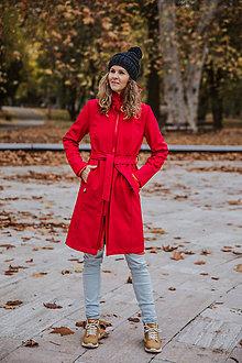 Kabáty - Bunda Olívia (Zimný softshell) (M - Červená) - 11313250_