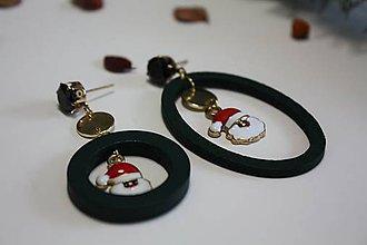 """Náušnice - Asymetrické vianočné náušnice """"DONNA"""" - 11311812_"""