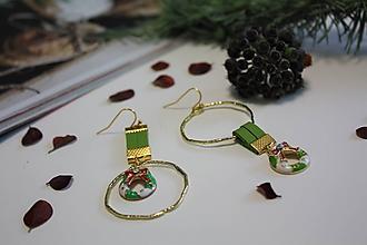 """Náušnice - Asymetrické vianočné náušnice """"PATRICIA"""" - 11312851_"""