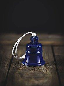 Dekorácie - Zvonek kobalt - 11314176_