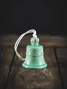 Dekorácie - Zvonek mint - 11314385_