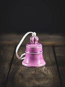 Dekorácie - Zvonek lila - 11314391_