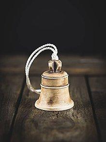 Dekorácie - Zvonek patina burel - 11314407_