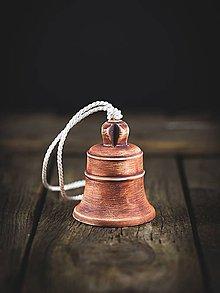 Dekorácie - Zvonek patina železo - 11314418_