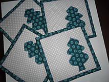 Úžitkový textil - Podšálky textilné - sada 4 ks. - 11311194_