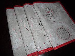 Úžitkový textil - Vianočné prestieranie sada 4 ks - 11310875_