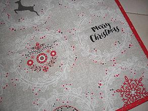 Úžitkový textil - Obrus štvorec s vianočnou tématikou. - 11310889_