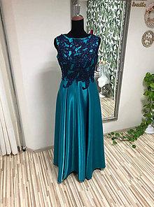 Šaty - Šaty tyrkis - 11314852_
