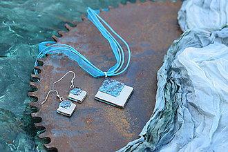 Sady šperkov - Súprava sklenených šperkov PLATINUM tyrkysová - 0102 - 11314817_