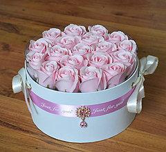 Dekorácie - CRYSTAL FLOWER BOX - BIELY L - 11315537_