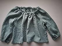 Detské oblečenie - detské bavlnené tričko/top (86 - Zelená) - 11313877_