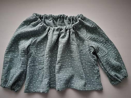detské bavlnené tričko/top (86 - Zelená)