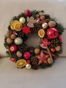 Dekorácie - Vianočný veniec na dvere - 11313505_