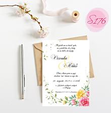 Papiernictvo - svadobné oznámenie S176 - 11312132_