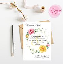 Papiernictvo - svadobné oznámenie S177 - 11312161_