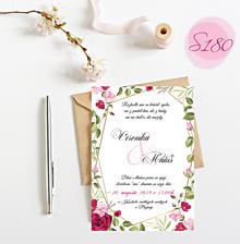 Papiernictvo - svadobné oznámenie S180 - 11312163_