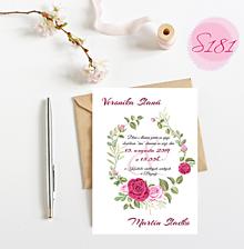 Papiernictvo - svadobné oznámenie S181 - 11312178_