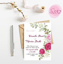 Papiernictvo - svadobné oznámenie S182 - 11312186_