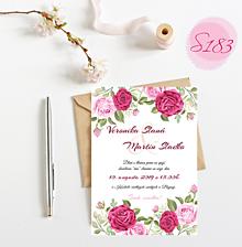 Papiernictvo - svadobné oznámenie S183 - 11312191_