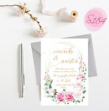 Papiernictvo - svadobné oznámenie S184 - 11312200_