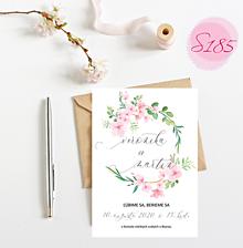 Papiernictvo - svadobné oznámenie S185 - 11312232_