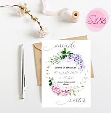Papiernictvo - svadobné oznámenie S186 - 11312254_