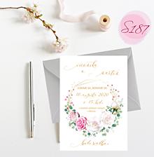 Papiernictvo - svadobné oznámenie S187 - 11312272_