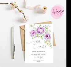 Papiernictvo - svadobné oznámenie S188 - 11312295_
