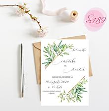Papiernictvo - svadobné oznámenie S189 - 11312304_