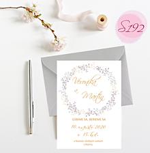 Papiernictvo - svadobné oznámenie S192 - 11312322_