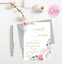 Papiernictvo - svadobné oznámenie S193 - 11312336_