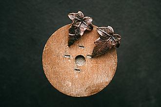 Náušnice - Náušnice napichovacie brečtan - 11312022_