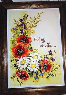 Obrazy - Lúčne kvety s citátom 2 - 11312558_