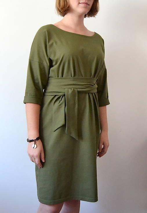 Šaty - Khaki šaty Alica - 11312602_