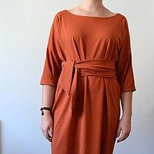 Šaty - Tehlové šaty Alica - 11312324_