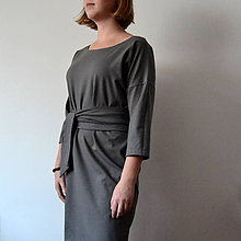 Šaty - Sivé šaty Alica - 11314581_