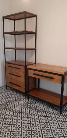 Nábytok - Industriálny nábytok do kúpeľne - set - 11312119_